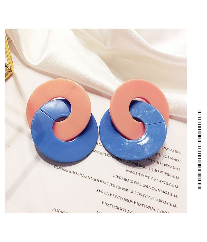 Levaso Fashion Jewelry Womens Earrings Ear Studs Necklace Pendant Alloy 1Set Personality Gifts Blue