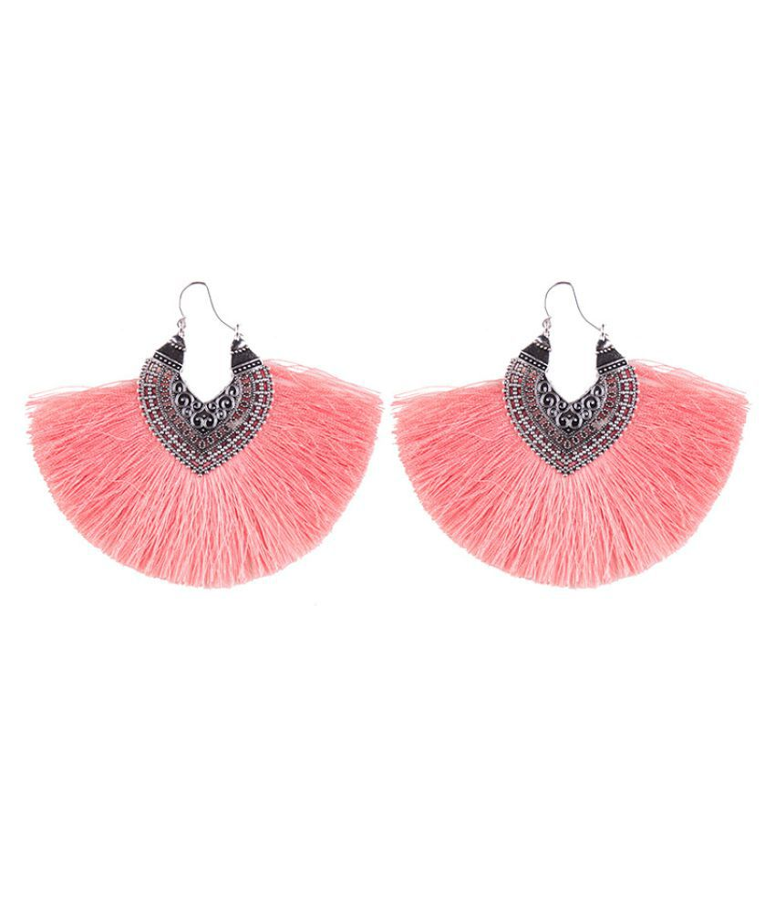 Levaso Fashion Jewelry Womens Earrings Ear Studs Alloy Floral Flower Geometric 1Pair Personality Gifts Pink
