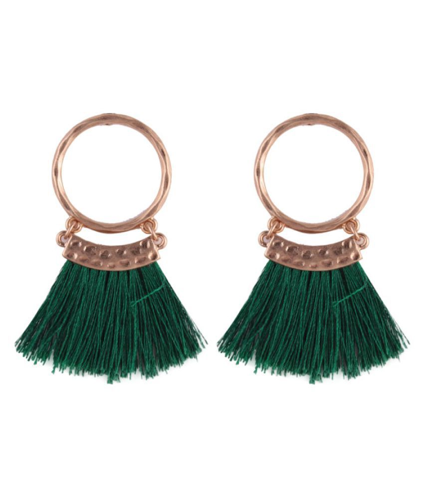 Levaso Fashion Jewelry Womens Earrings Ear Studs Alloy Geometric 1Pair Personality Gifts Green