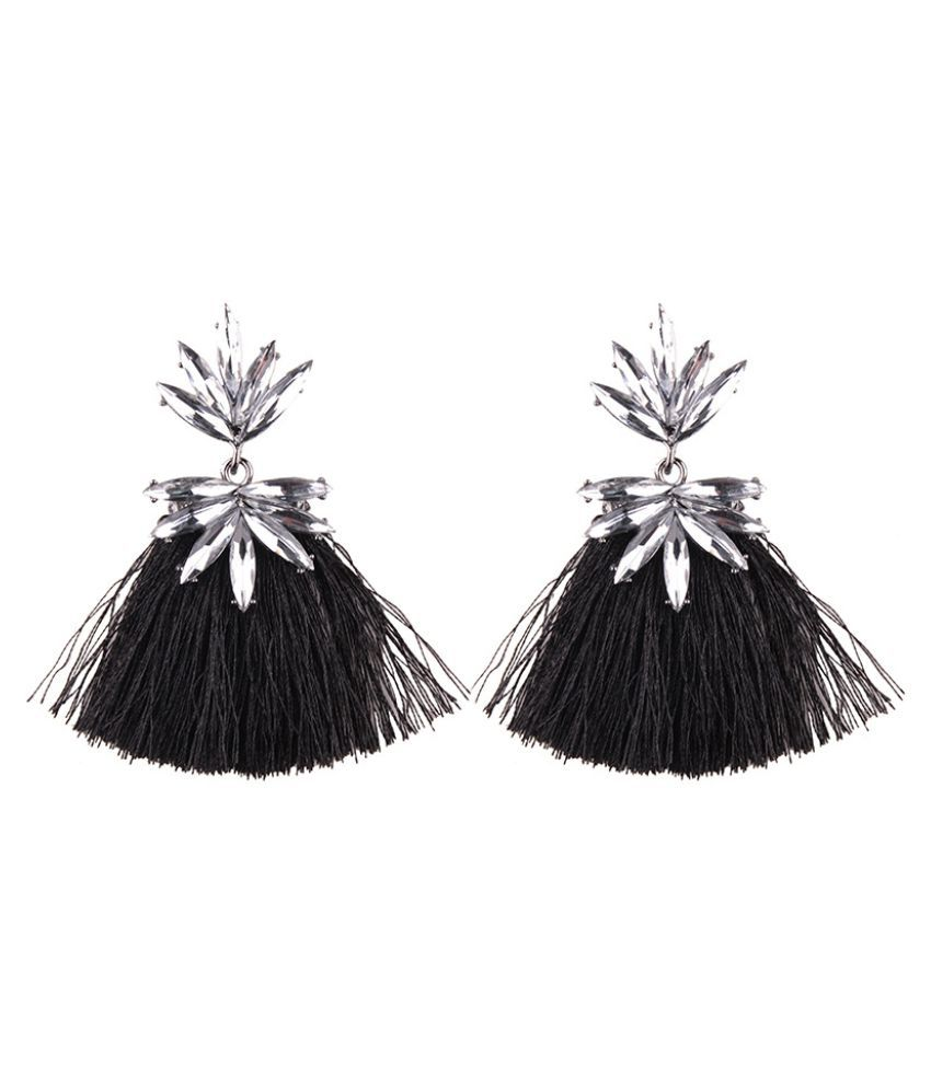 Levaso Fashion Jewelry Womens Earrings Ear Studs Tassels Floral Flower Geometric 1Pair Personality Gifts Multi Color