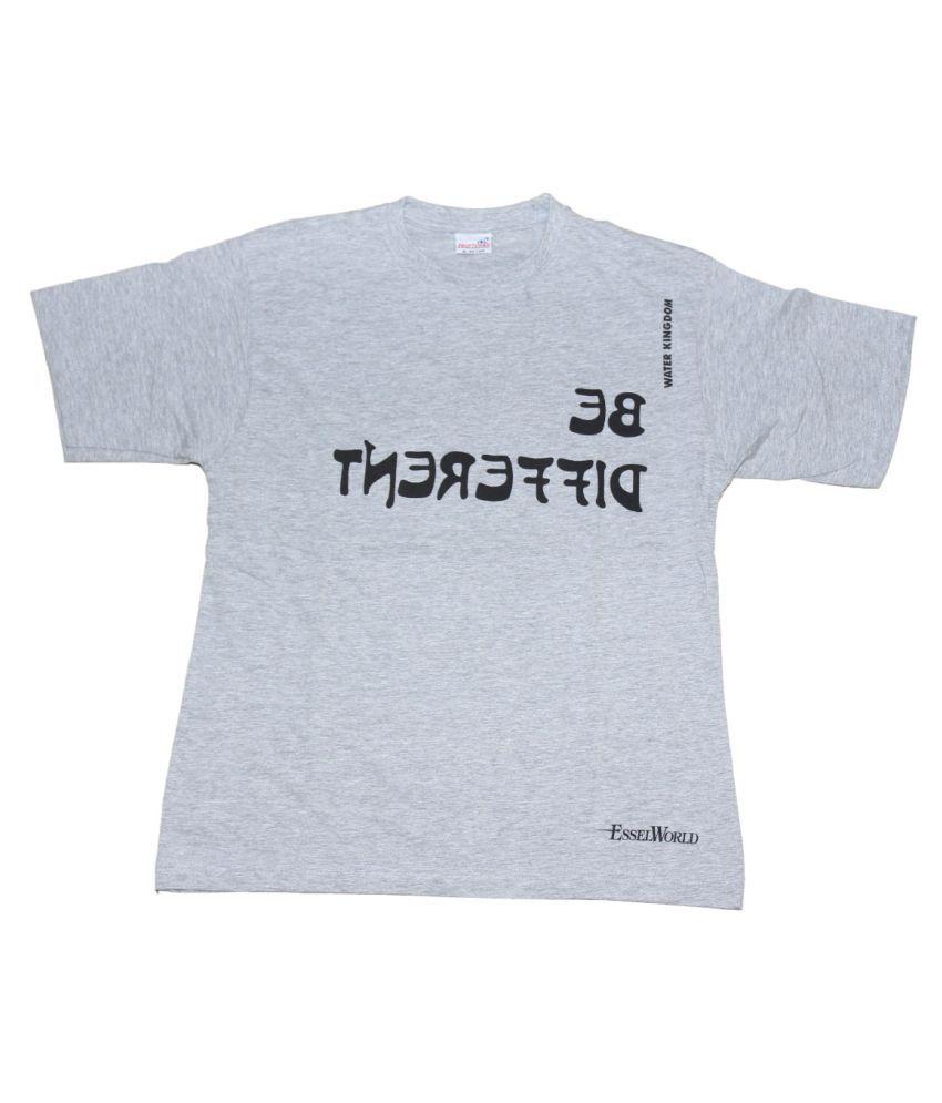 Fab5 White Half Sleeve T-Shirt