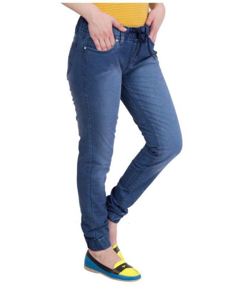 3893a8214037e3 Buy Kopyneko Denim Jeggings - Blue Online at Best Prices in India ...