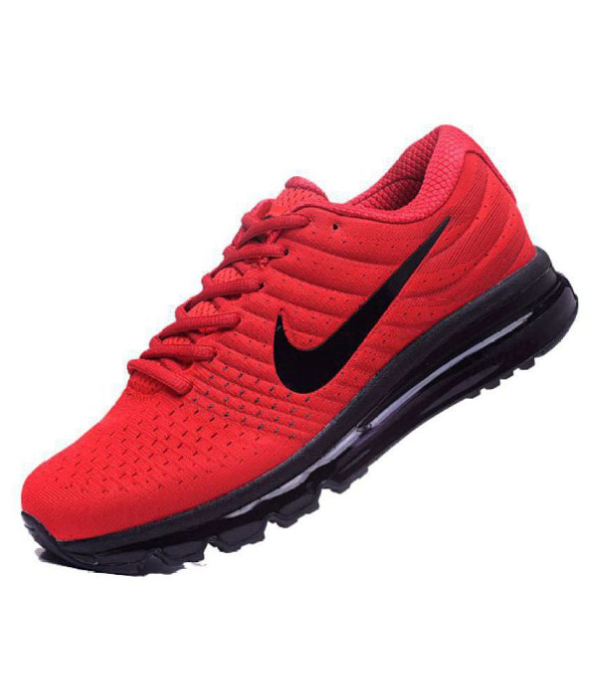 0b85a25c4315b Nike AIRMAX Red Running Shoes - Buy Nike AIRMAX Red Running Shoes Online at  Best Prices in India on Snapdeal