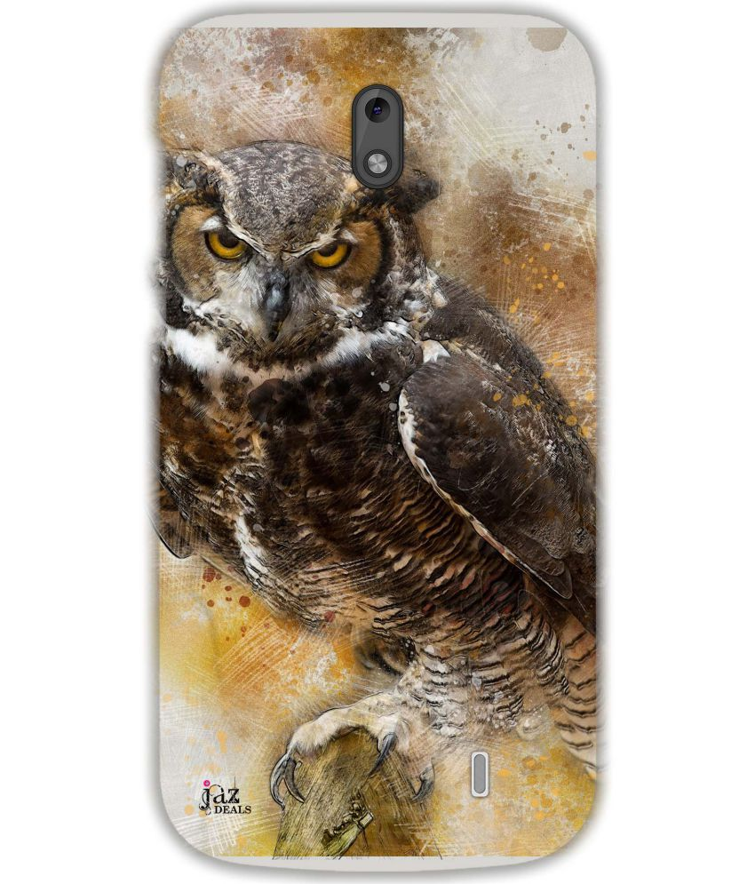 Nokia 1 Printed Cover By Jaz Deals Angry Owl Print Hard Cover