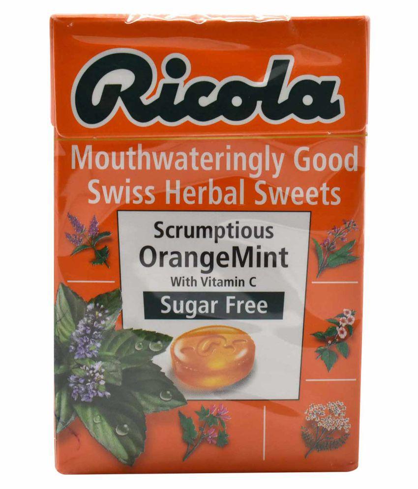 Ricola Swiss Herbal Sweets Orange Mint Hard Candies 45 gm