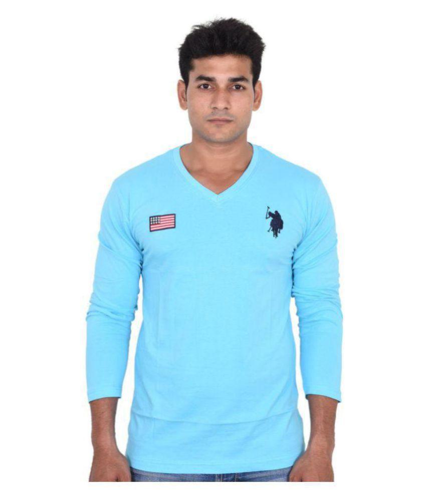 Us Polo Assn Turquoise Full Sleeve T Shirt Buy Us Polo Assn