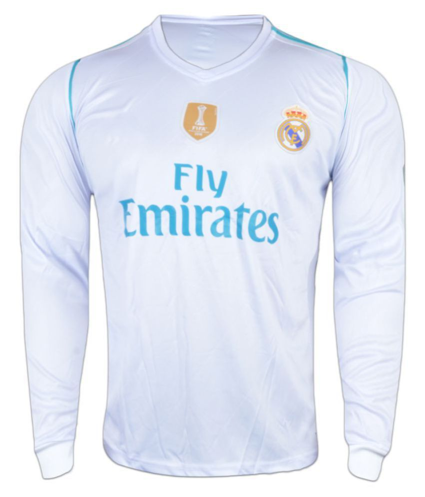 the best attitude 00703 5cd76 Real Madrid F C White Polyester Jersey
