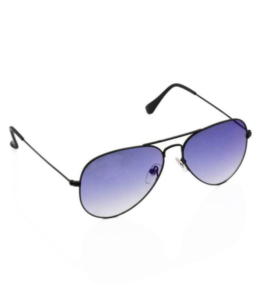 YAARA Blue Aviator Sunglasses ( blue shade black )