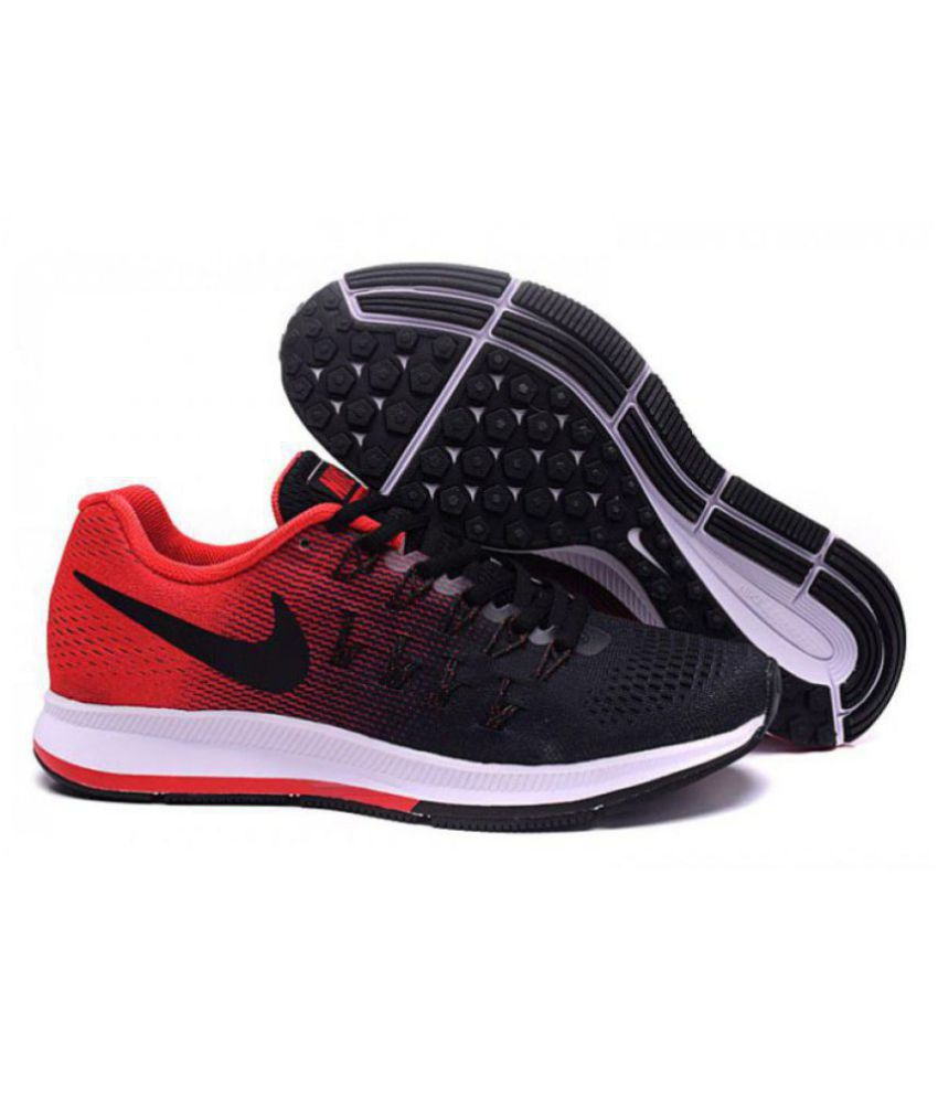 2b2636fc7ed Nike AIR ZOOM PEGASUS 33 Red Running Shoes - Buy Nike AIR ZOOM PEGASUS 33  Red Running Shoes Online at Best Prices in India on Snapdeal