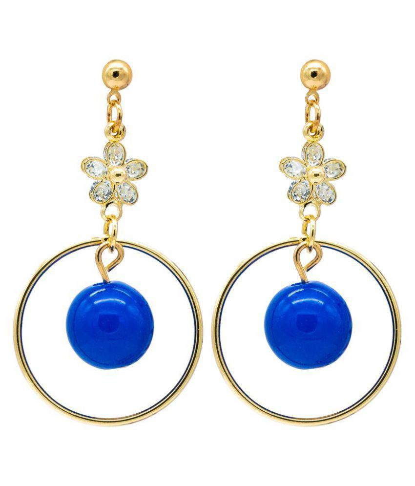 KIYARA Kiyara Accessories Delicate Design Bangle And Drop Zircon Earrings With a Pearl For Women And Girls. Cubic Zirconia, Swarovski Zirconia, White Zircon Alloy Drop Earring