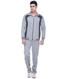 Warm Up Grey Polyester Tracksuit