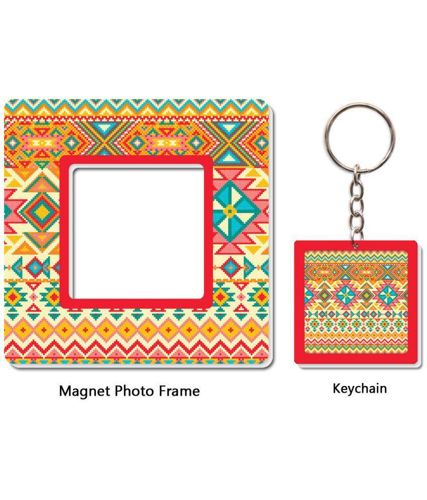Mahavir Gifts & Novelties Photo frame and Keychain Plastic Square ...