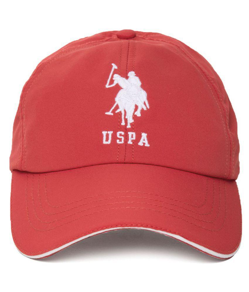 U.S. Polo Assn. Red Plain Cotton Caps - Buy Online   Rs.  6740cd29c5b