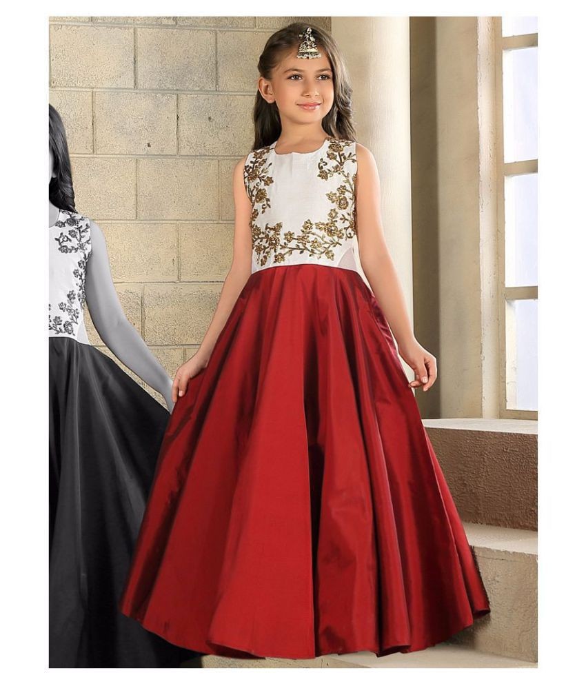 ca30eb02ac7 White Button New Designer latest maroon indian coding work readymade  partywear girl s gown dress - Buy White Button New Designer latest maroon  indian coding ...