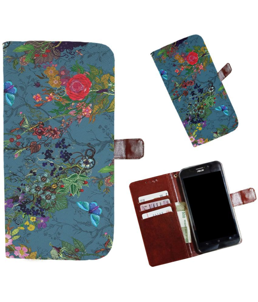 Galaxy On6 Flip Cover by Snooky - Multi