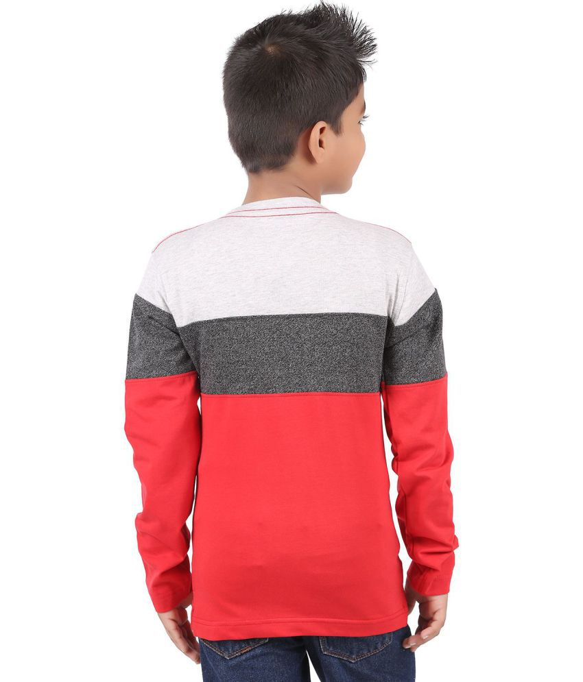 88210ef980b BodyGlove Color Block Round Neck Full Sleeves T-Shirt For Boys - Buy  BodyGlove Color Block Round Neck Full Sleeves T-Shirt For Boys Online at Low  Price - ...