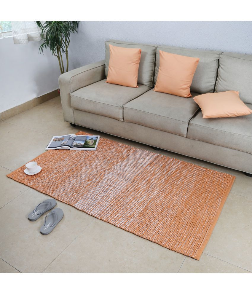 House This Orange Single Regular Floor Mat