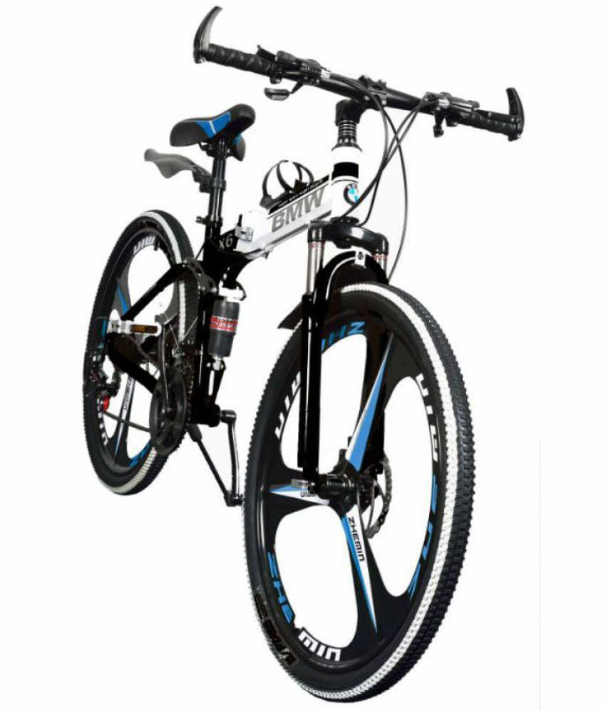 Bmw Bicycle >> Bmw Foldable Adventure Sports Mtb Cycle With 21 Gears White