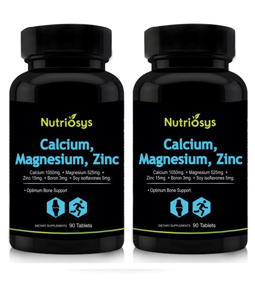 Nutriosys Calcium Magnesium Zinc 500mg Pack Of 2 Tablets 180 No