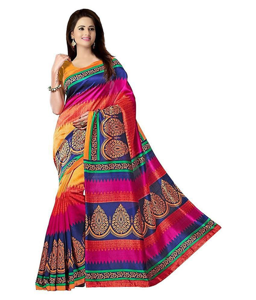 High Glitz Fashion Multicoloured Cotton Silk Saree