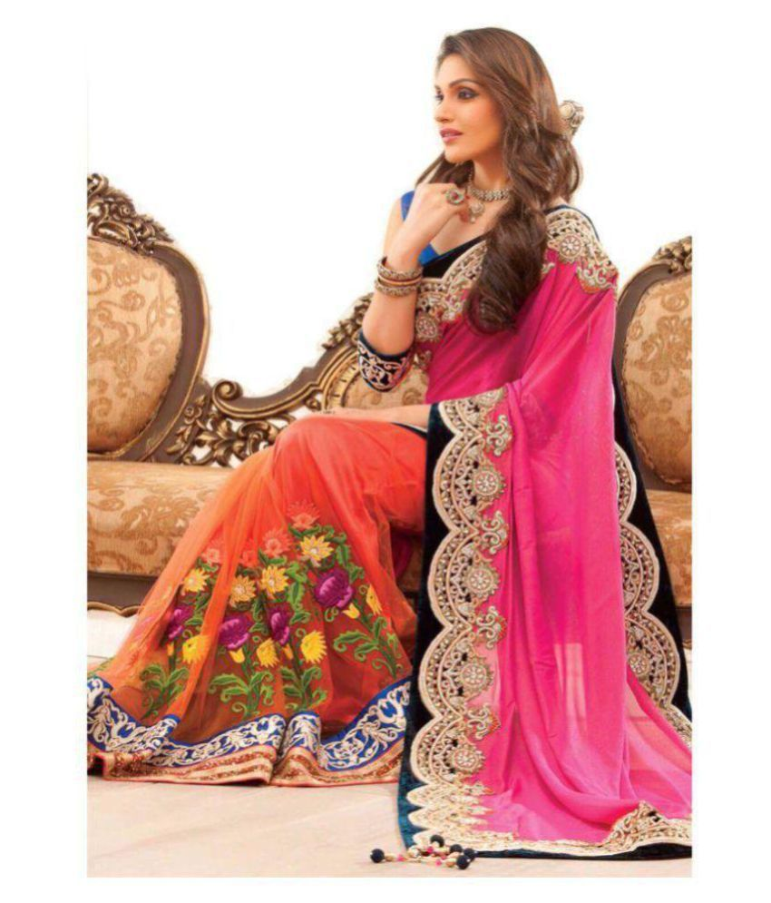 30380a0810 Designer saree Wedding Pink and Beige Cotton Saree - Buy Designer saree  Wedding Pink and Beige Cotton Saree Online at Low Price - Snapdeal.com