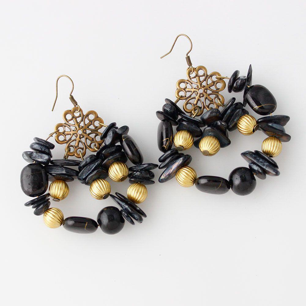 Levaso Fashion Earrings Ear Studs Alloy Bohemia Jewelry Blue