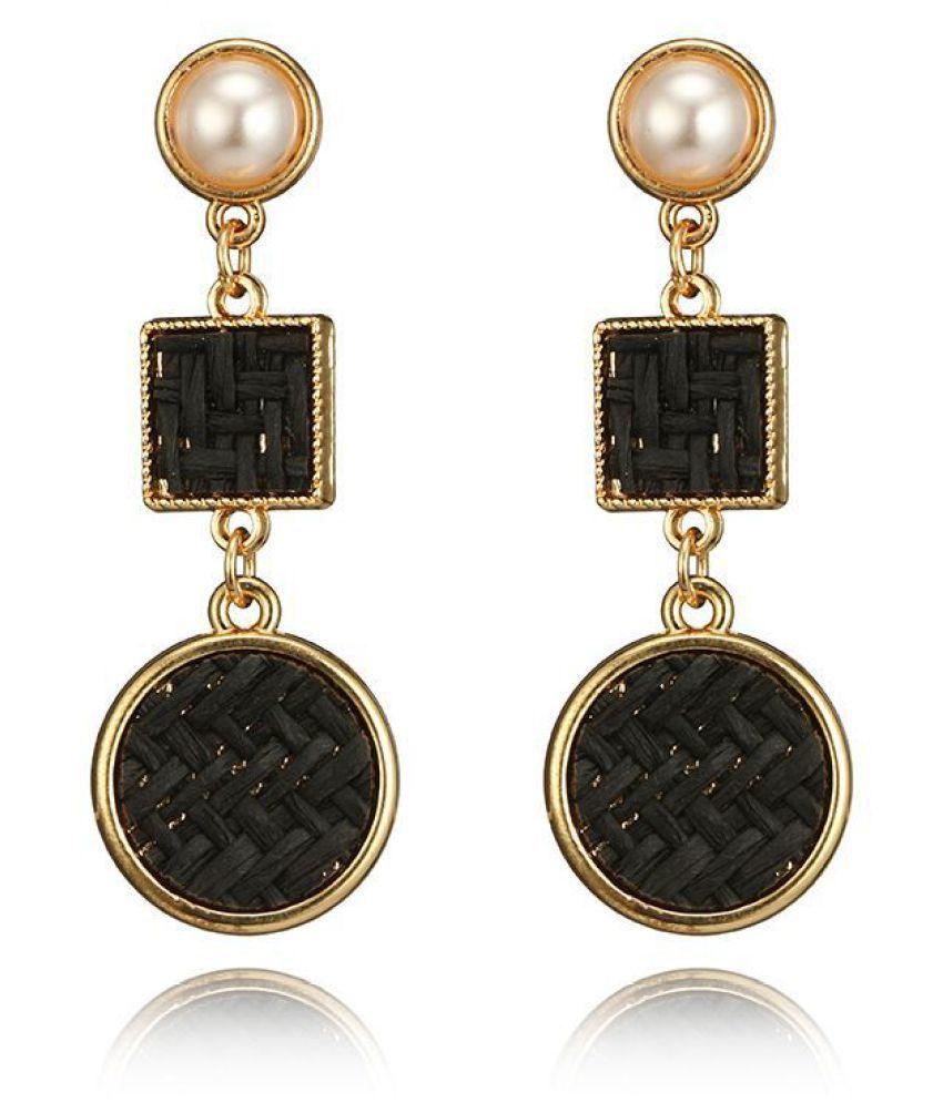 Levaso Fashion Earrings Ear Studs Alloy Jewelry Black