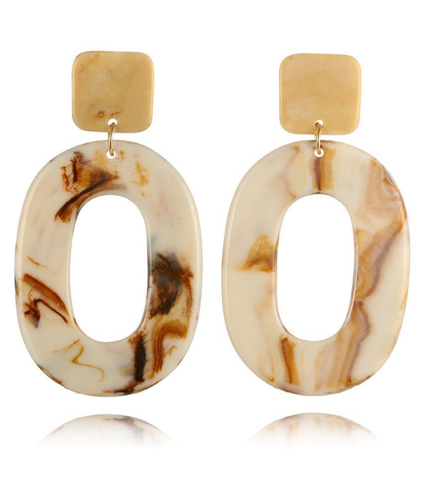 Levaso Fashion Earrings Ear Studs Acrylic Jewelry Yellow