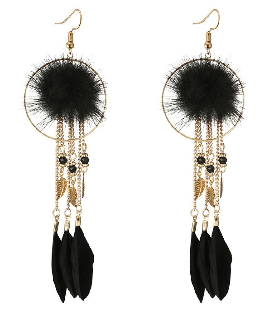 Levaso Fashion Earrings Ear Studs Alloy Tassels Jewelry Red
