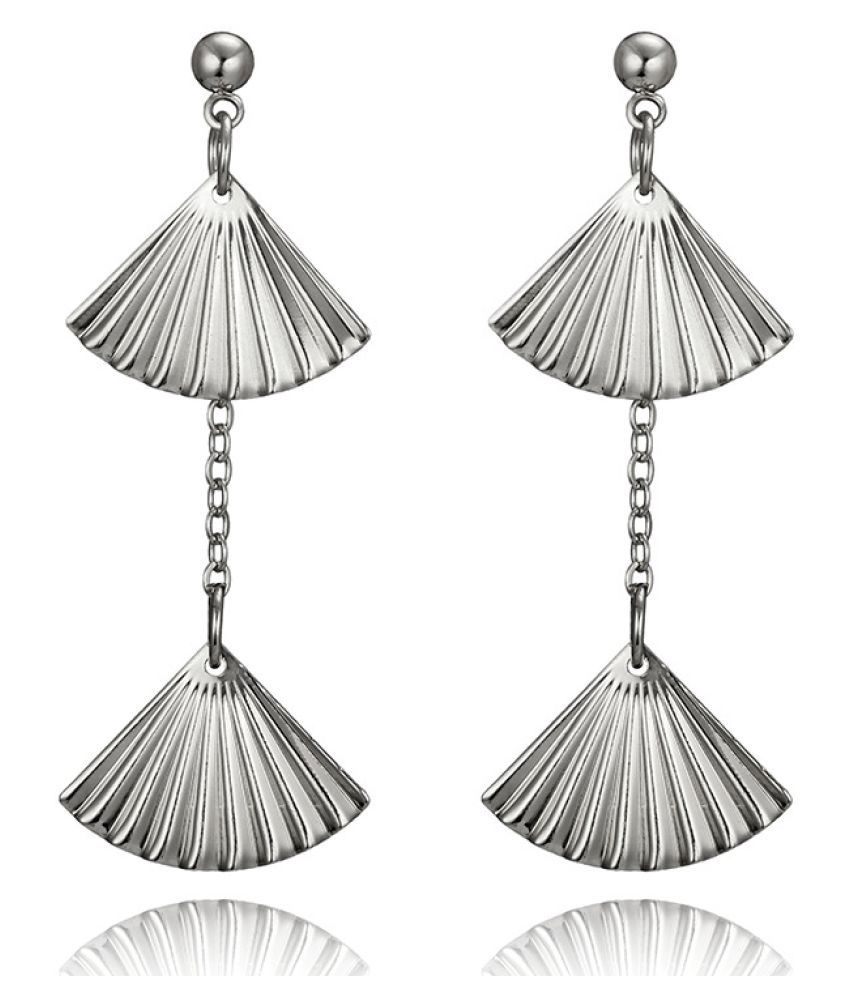 Levaso Fashion Earrings Ear Studs Alloy Tassels Jewelry Silver