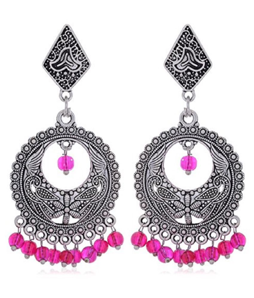 Jyesh Jewels Women's Fashion German Silver Turkish Style Dangle & Drop Earrings