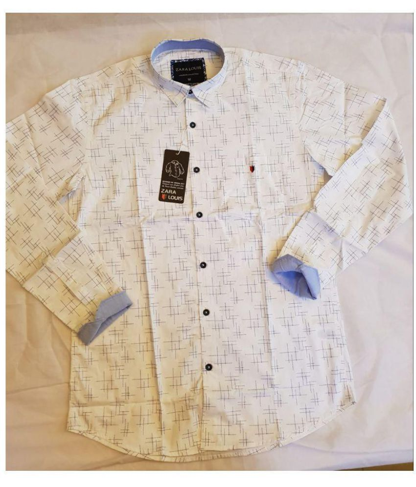 a22b98d071 Zara Louis 100 Percent Cotton Shirt - Buy Zara Louis 100 Percent Cotton  Shirt Online at Best Prices in India on Snapdeal
