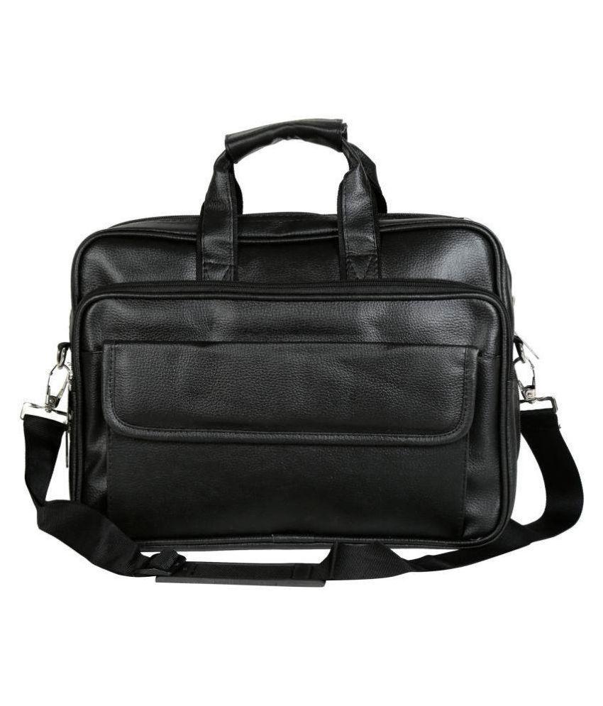 Home Story Black P.U. Office Bag Laptop Bag Sling Bag For Men   Women Side  Bag - Buy Home Story Black P.U. Office Bag Laptop Bag Sling Bag For Men ... 2d15518952f