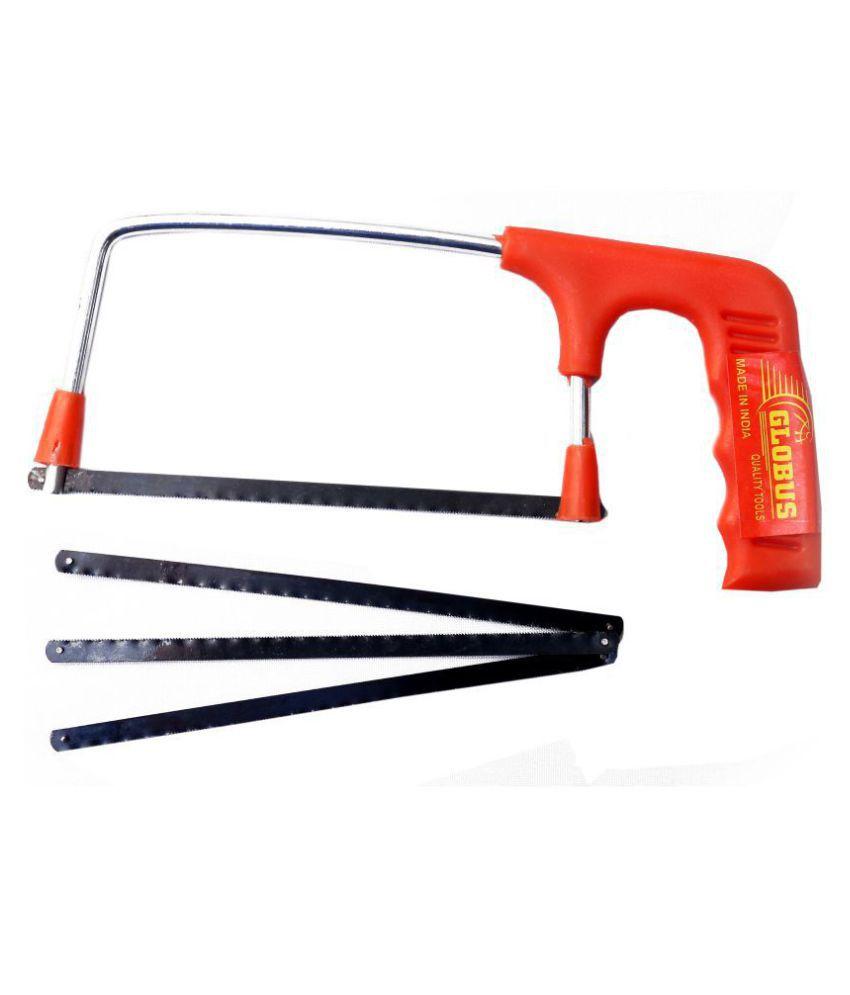 Globus Carpenter Tool kit Plastic Handle Junior Hacksaw With 3 Extra Blades (6 Inch-150 mm)