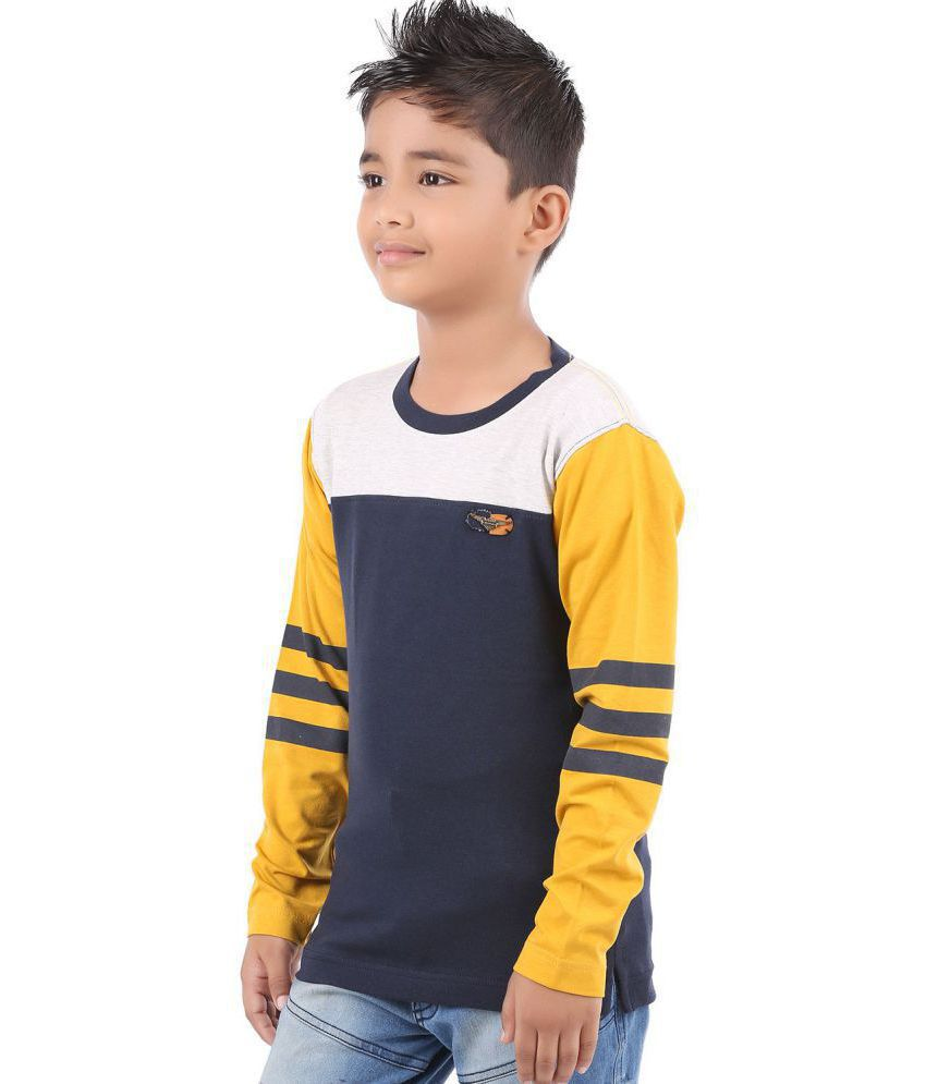 03f79c283e3 BodyGlove Color Block Striper Full Sleeves T-Shirt For Boys - Buy ...