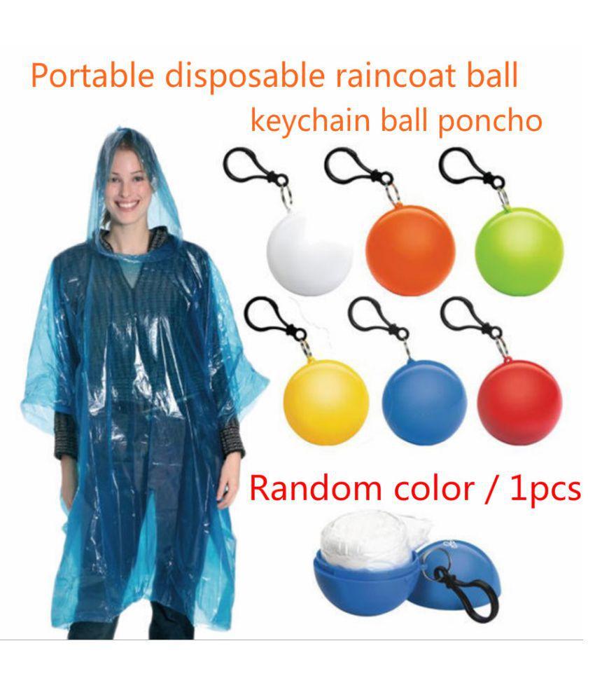Changing Destiny Polyester Long Raincoat - White