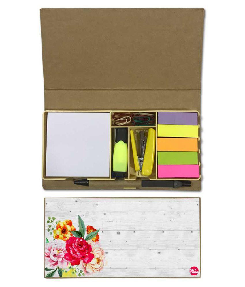 Nutcase Designer Stationary Kit Desk Customised Organizer Memo Notepad - Vintage Floral