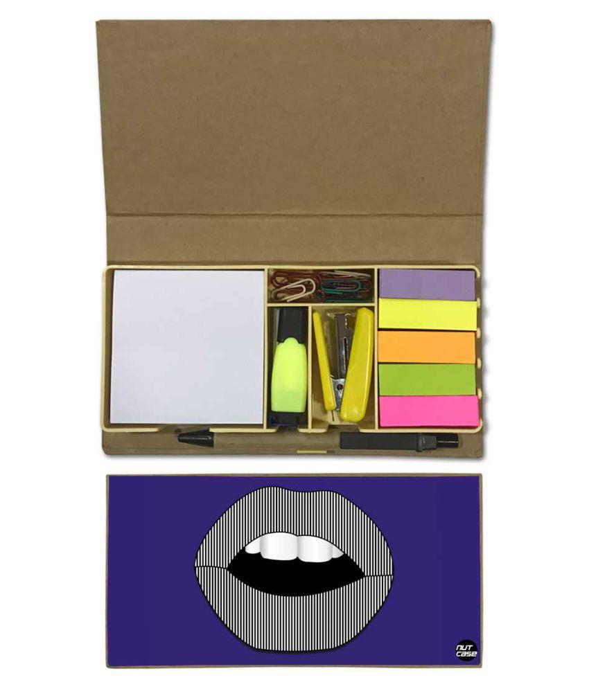 Nutcase Designer Stationary Kit Desk Customised Organizer Memo Notepad - Pop Art
