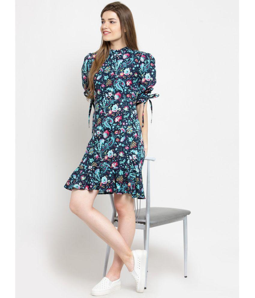 Get Glamr Cotton Blue Regular Dress