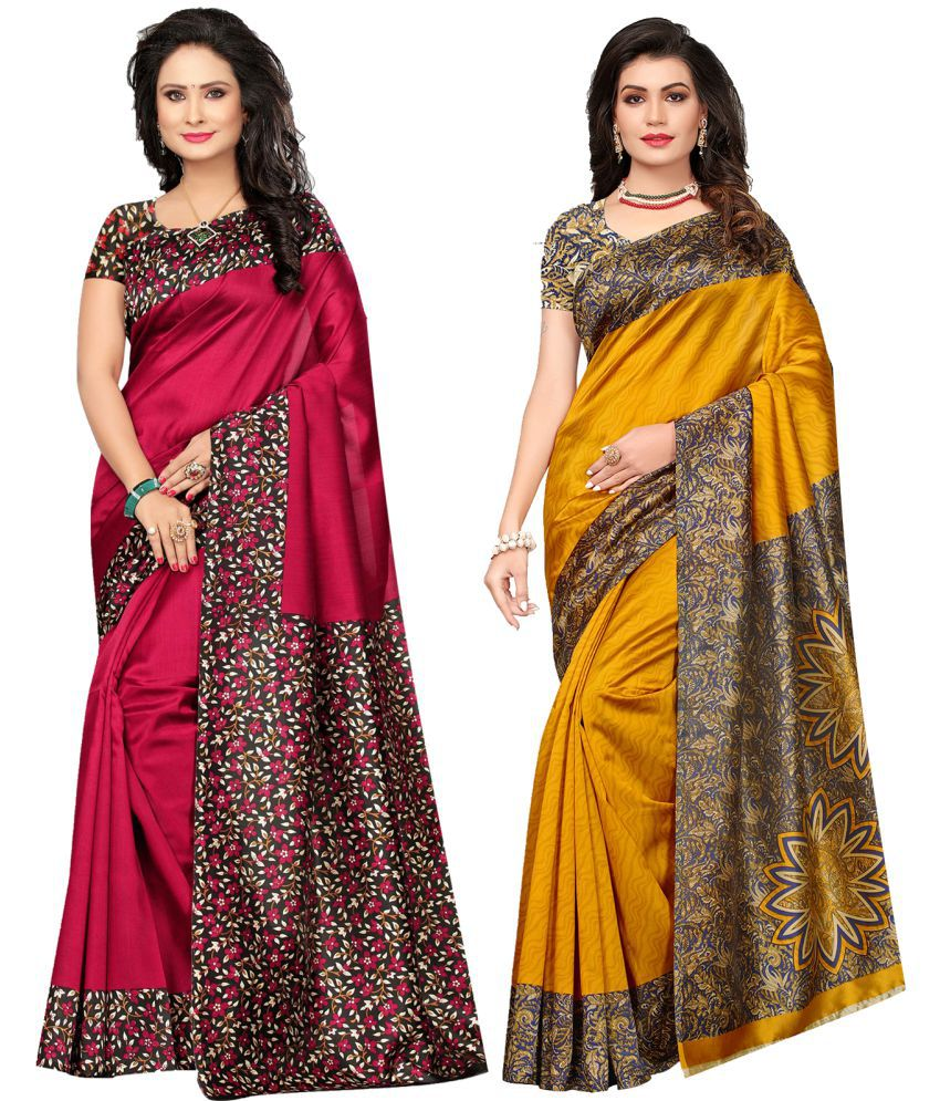 Ishin Multicoloured Silk Saree Combos