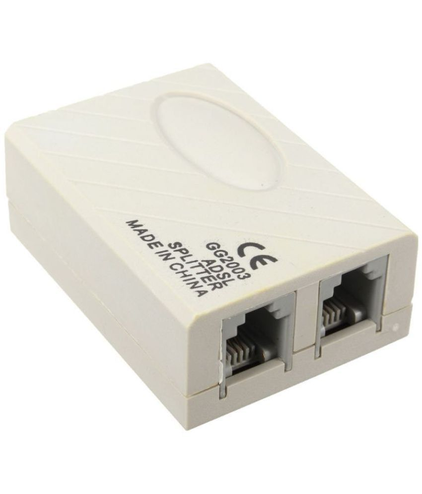 LipiWorld  ADSL Internet Phone Filter Splitter Broadband Modem Box