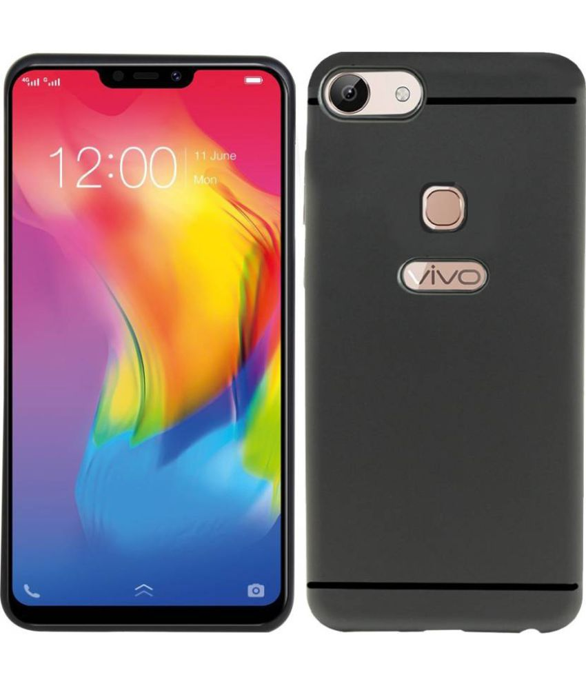 Vivo Y83 Plain Cases MAXX3D - Black SHOCK PROOF