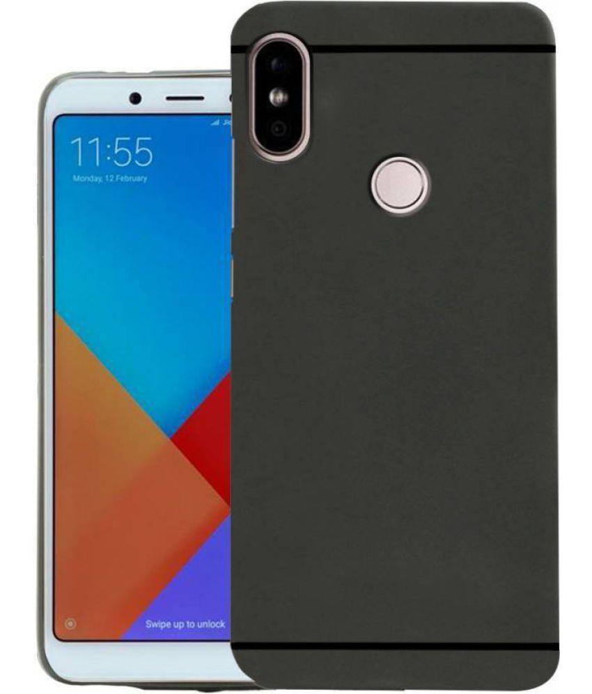 Xiaomi Redmi Note 5 Pro Plain Cases Maxx3d Black Shock Proof