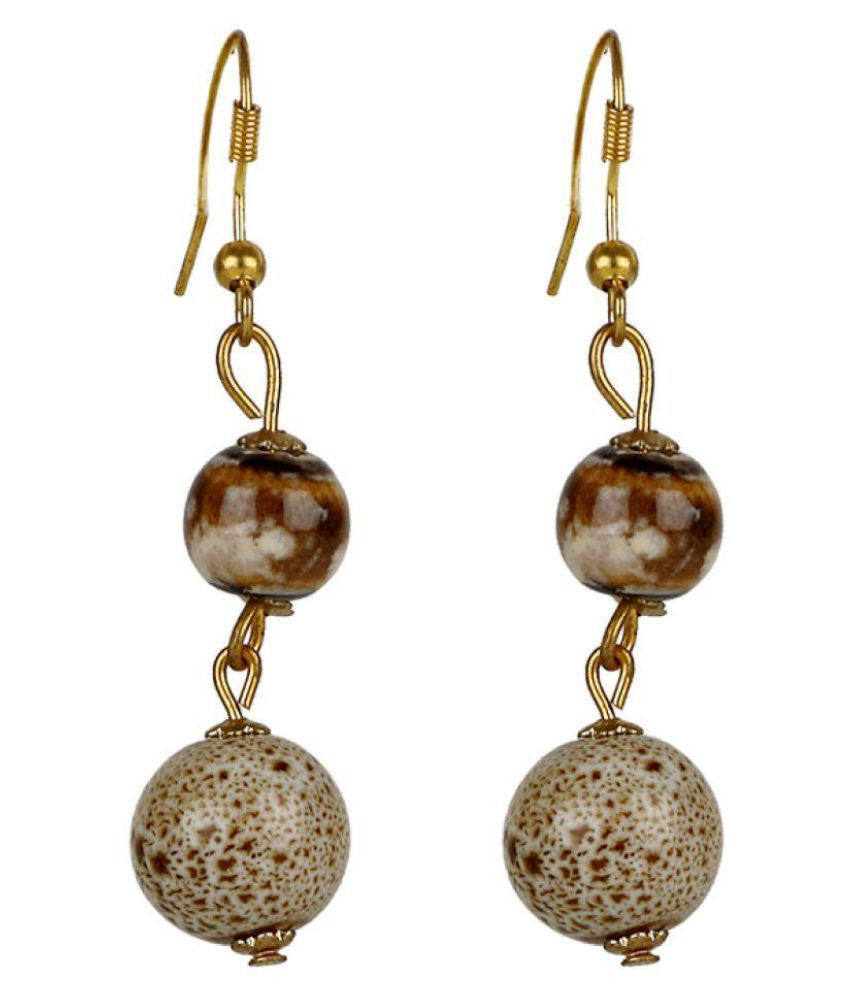 vendee fashion Gold plated boll design earring for women