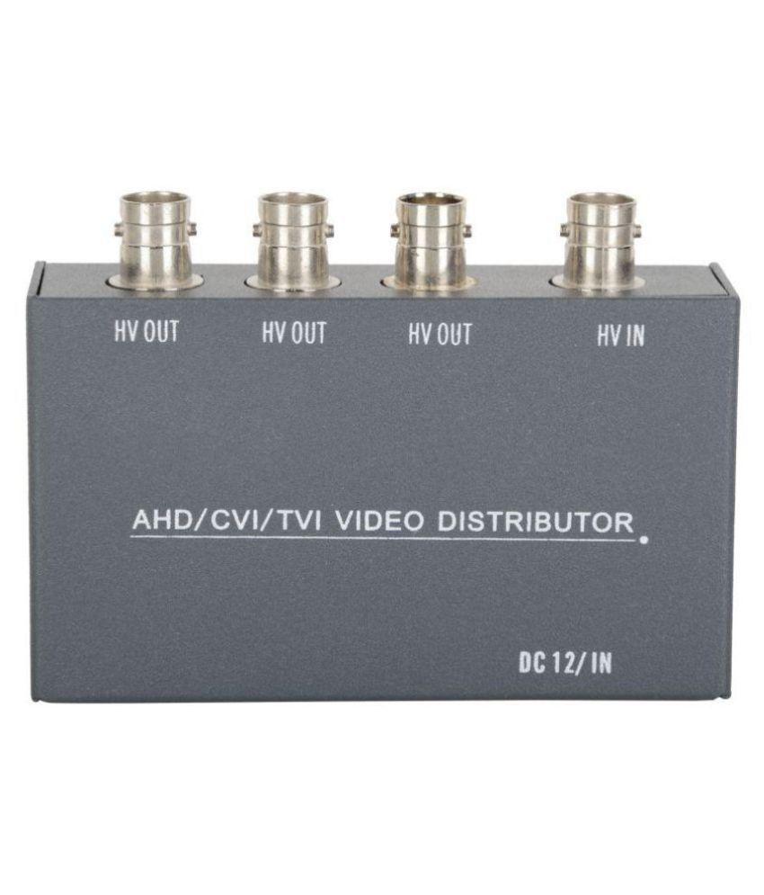 WECAM AHD Camera Multiplier Video Distributor (Black), Record one HD CCTV Camera in 3 DVR …