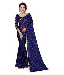 Pari Designer Blue Chiffon Saree
