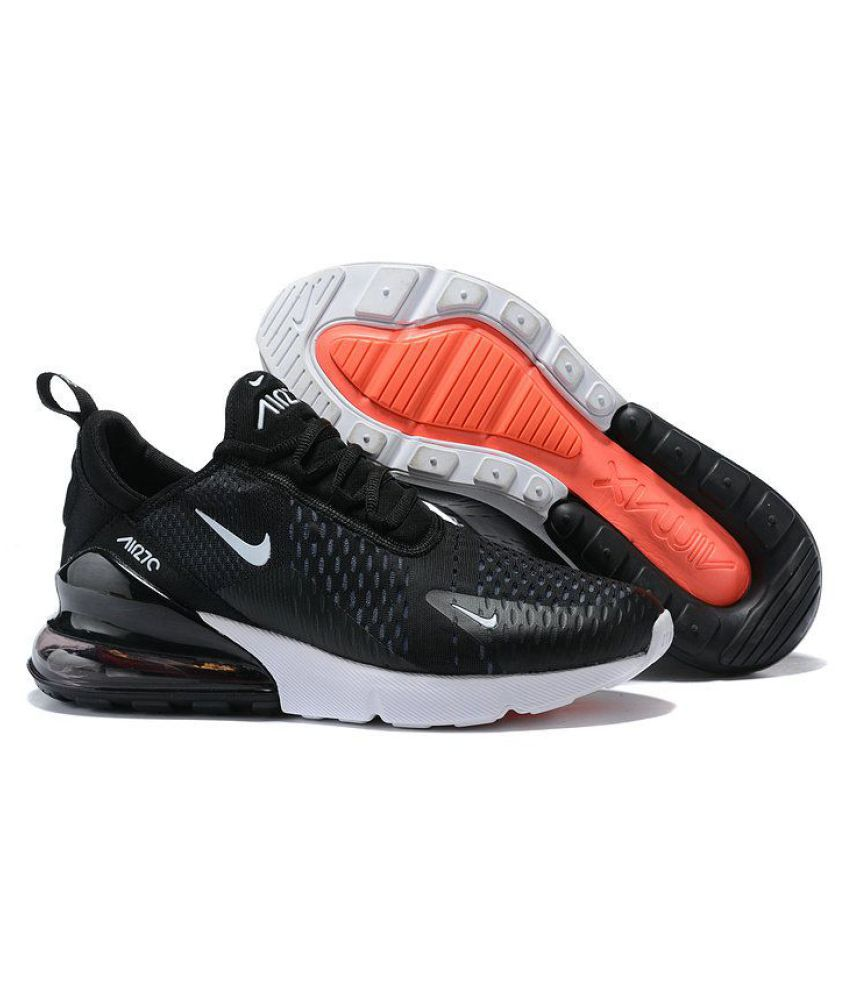 7b48920ad1 NIKE AIR 270 Black Running Shoes - Buy NIKE AIR 270 Black Running Shoes  Online at Best Prices in India on Snapdeal