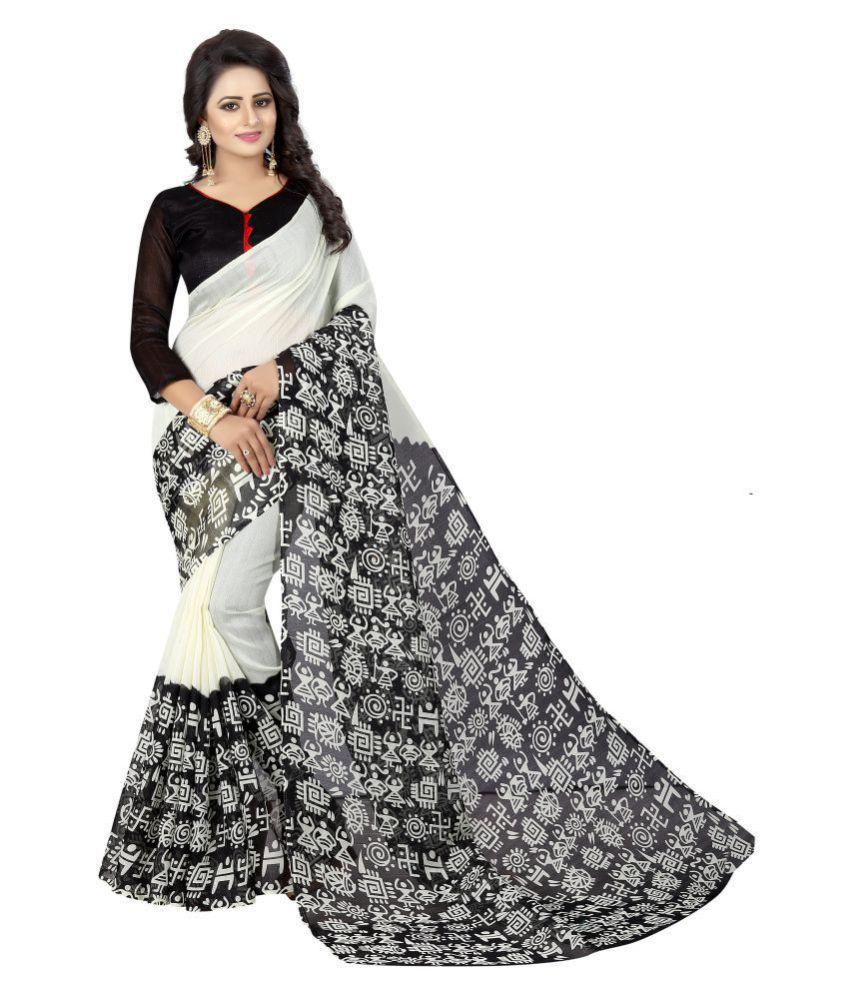 Nesdi Black Silk Saree