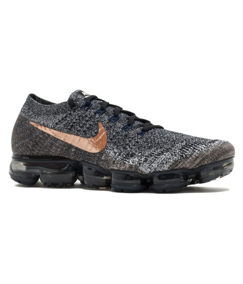 8cc8b87a0b Nike AIR VAPORMAX FLYKNIT Grey Running Shoes - Buy Nike AIR VAPORMAX  FLYKNIT Grey Running Shoes Online at Best Prices in India on Snapdeal