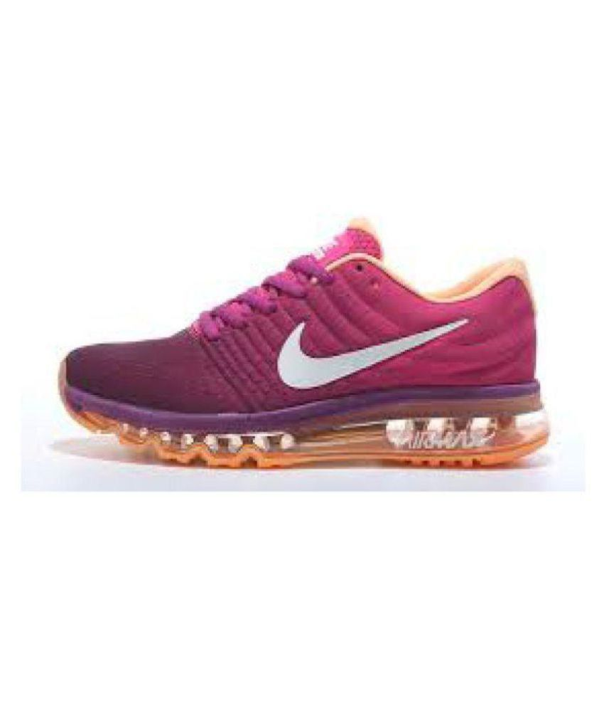 e124f3b8e52cd Nike Air Max 2017 Purple Womens Running Shoes Price in India- Buy ...